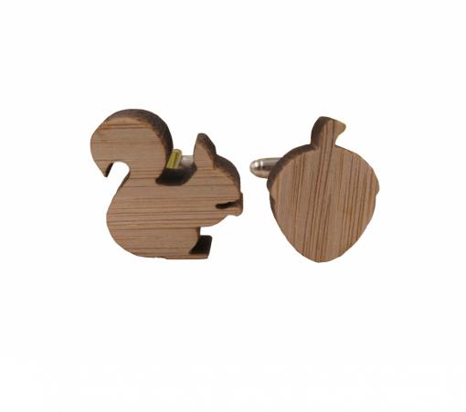 Eekhoorn manchetknopen