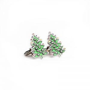 Kerstboom manchetknopen