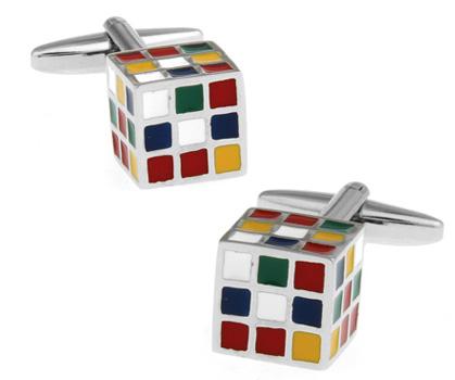 Magische kubus manchetknopen