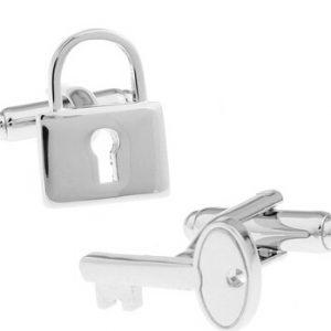 Slot en sleutel manchetknopen