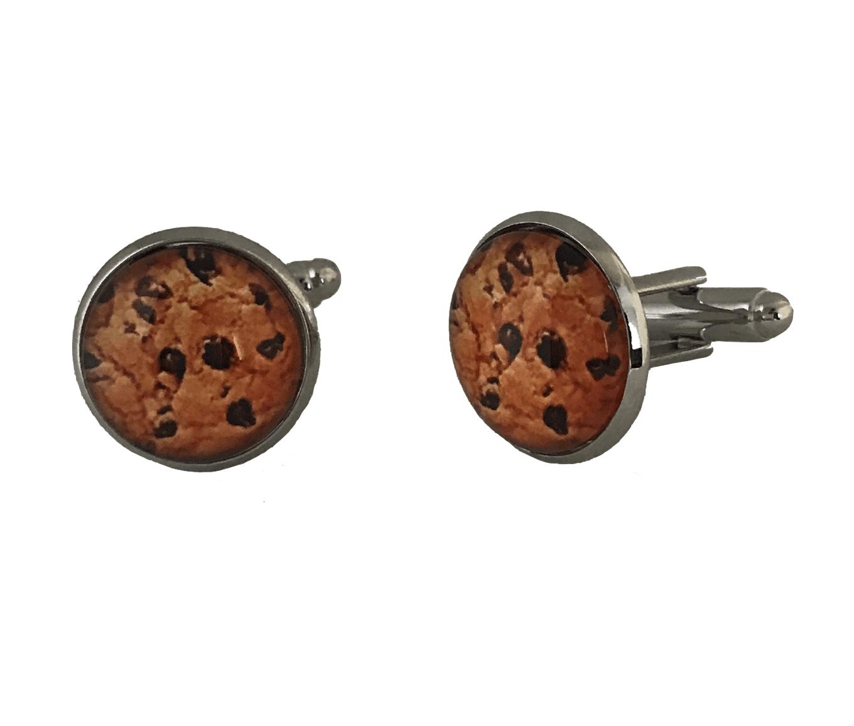 chocolade koekje manchetknopen