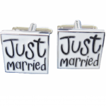 Just married manchetknopen