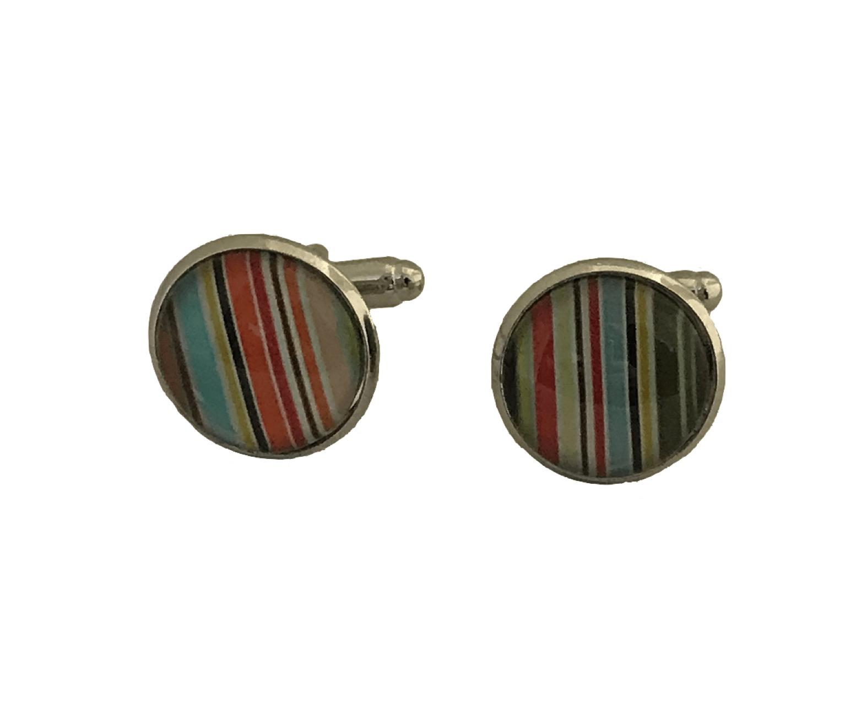 gekleurde strepen manchetknopen