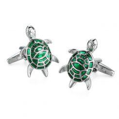 Schildpad manchetknopen
