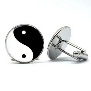 yin en yang manchetknopen