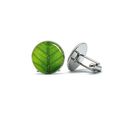 Groen blad manchetknopen