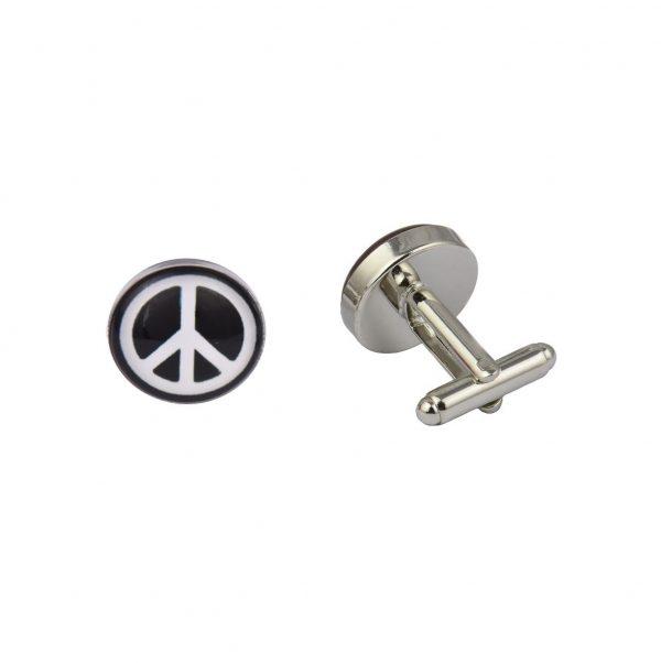 Peace logo manchetknopen
